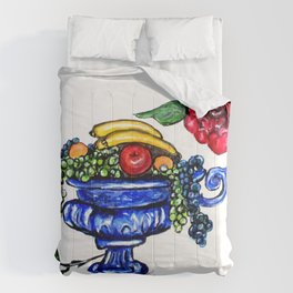 Classic Fruit Bowl Digital Enhanced Comforters