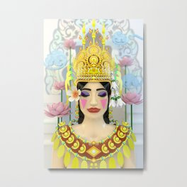 The Meditating Apsara Metal Print