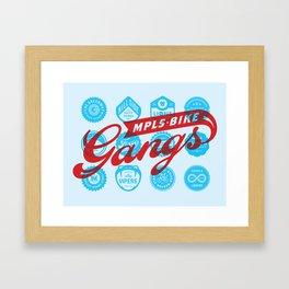 Minneapolis Bike Gangs Framed Art Print