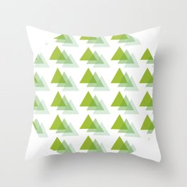 Triangle Jungle Throw Pillow