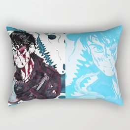 Blue Hell Rectangular Pillow