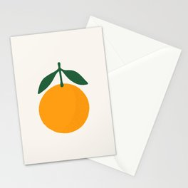 Orange Summer Citrus Stationery Cards