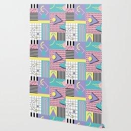 Memphis Pattern 27 - 80s - 90s Retro / 1st year anniversary design Wallpaper