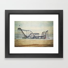 Jet Star Coaster Framed Art Print