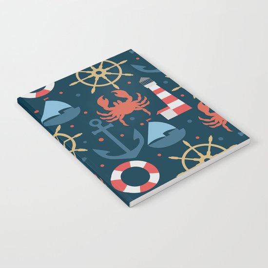 Sea blue pattern Notebook