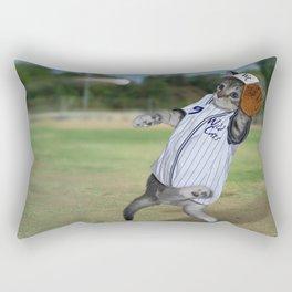 Baseball Catcher Kitten Rectangular Pillow