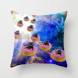 Pug Invasion Throw Pillow