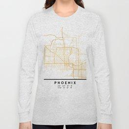 PHOENIX ARIZONA CITY STREET MAP ART Long Sleeve T-shirt