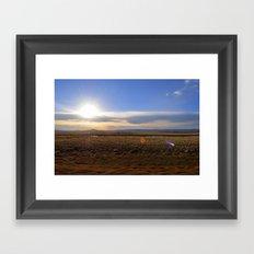 Wyoming Sunset 2 Framed Art Print