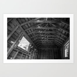 Chimney Corner Engine House - Cape Breton Art Print