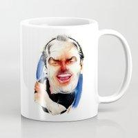 jack nicholson Mugs featuring Jack Nicholson by drawgood