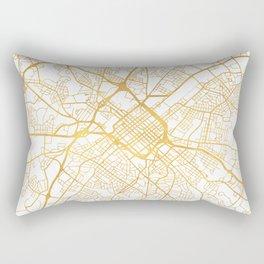 CHARLOTTE NORTH CAROLINA CITY STREET MAP ART Rectangular Pillow