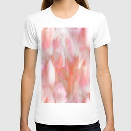 Pink Tulips Abstract Nature Spring Atmosphere T-shirt