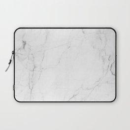 White Marble Print II Laptop Sleeve