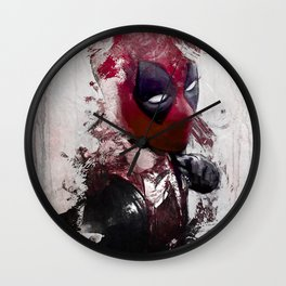 The Merc With A Mouth - Chimichanga Or Knuckle Sandwich? Wall Clock