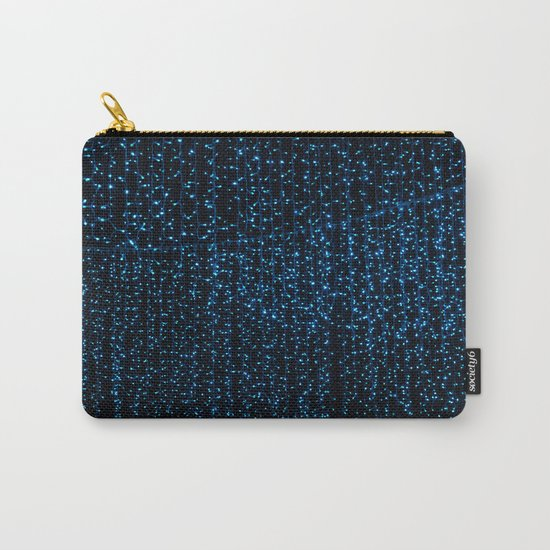 Sapphire Blue Raindrops Carry-All Pouch