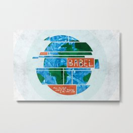 Tower of Babel (by Amy Hardy) Metal Print