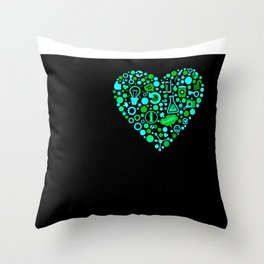 I Heart Stem Cell Research Throw Pillow