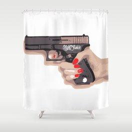 NIGHTJUNKIE GUN Shower Curtain