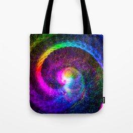 Spiral tie dye light painting Tote Bag