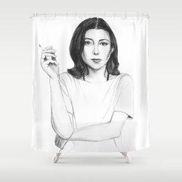 Joan Didion Shower Curtain