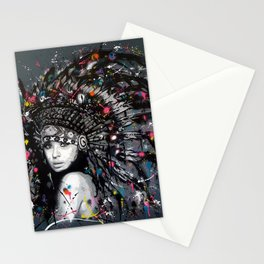 INDIAN--GIRL Stationery Cards