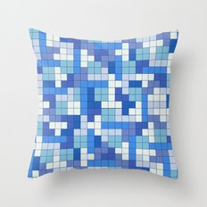 Tetris Camouflage Marine Throw Pillow
