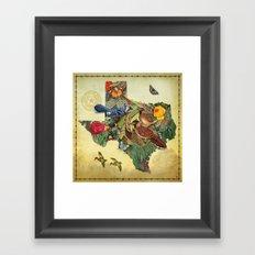 Texas Map Framed Art Print