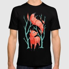 Winter Fox Mens Fitted Tee MEDIUM Black
