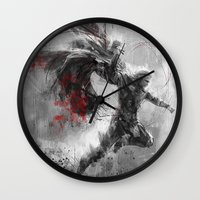 thor Wall Clocks featuring Thor by Wisesnail