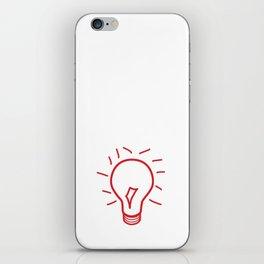 Red Lightbulb  iPhone Skin