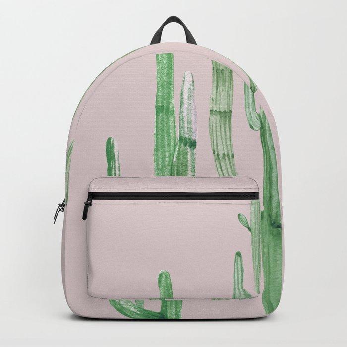Three Amigos Green + Pink Backpack
