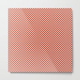 Tangerine Tango and White Polka Dots Metal Print