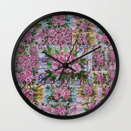 roses and laces Wall Clock