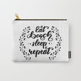 Eat. Beach. Sleep. Repeat. Lettering poster. Carry-All Pouch