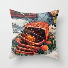 Roast with Mushrooms Throw Pillow