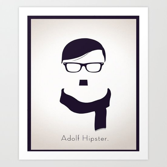 Adolf Hipster  Art Print