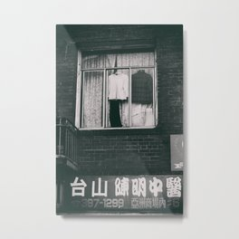 Window Dressing Metal Print