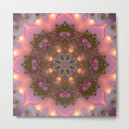 Fractal kaleidoscope, mandala  1 Metal Print