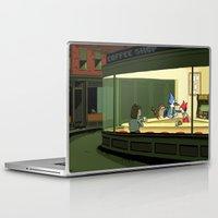 regular show Laptop & iPad Skins featuring regular show nighthawks by Dave Collinson