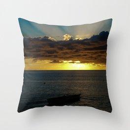 Sunset Soufriere Throw Pillow