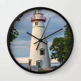 Marblehead Lighthouse at Lake Erie Sandusky area Ohio Wall Clock
