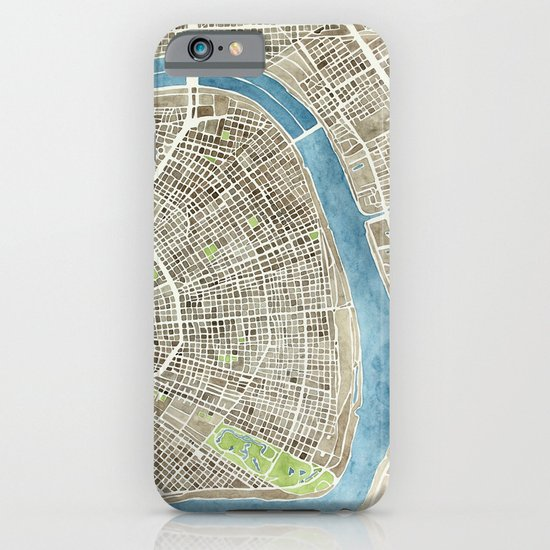 New Orleans City Map iPhone & iPod Case
