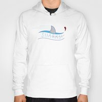 sharks Hoodies featuring Sharks! by Basik1 Design