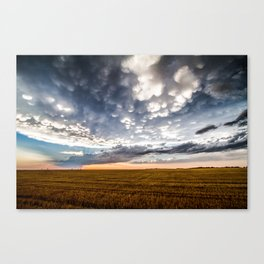 After the Storm - Spacious Sky Over Field in West Texas Canvas Print