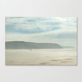 Long Board Surfer Canvas Print