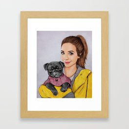 Zoe & Nala Framed Art Print