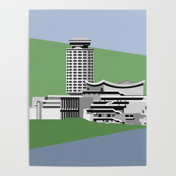 Soviet Modernism: Youth Palace in Yerevan, Armenia Poster