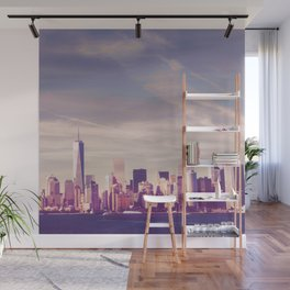 New York City Skyline Waterfront Wall Mural