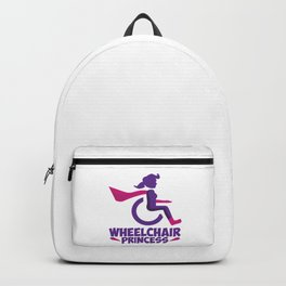 Funny Wheelchair Walking Disability Carer Gift Backpack